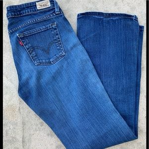 Levi's Low Bootcut 545 Med Blue Wash Size 10
